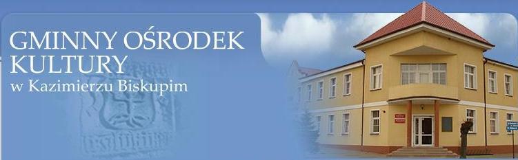 Główka strony Miejsko-Gminnego Ośrodka Kultury w Kazimierzu Biskupim